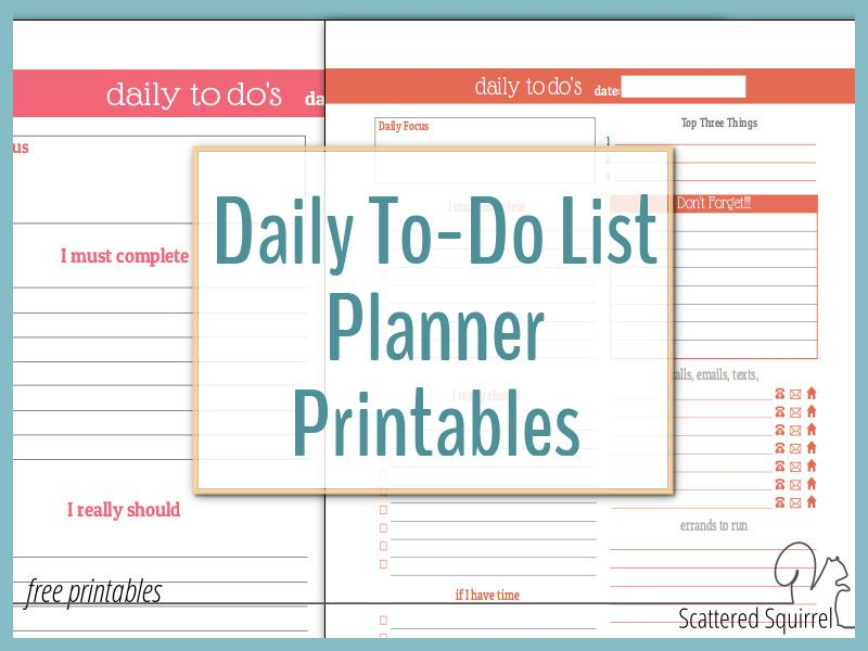Stay on Track in 2016 With These Daily To-Do List Planner - daily to do template