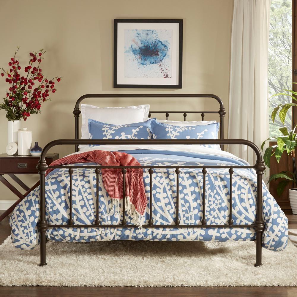 Homesullivan Calabria Antique Brown Queen Bed Frame Home Decor