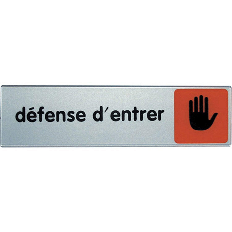 Plaque Defense D Apos Entrer En Plexiglass Novap Plexiglass Et Plaque