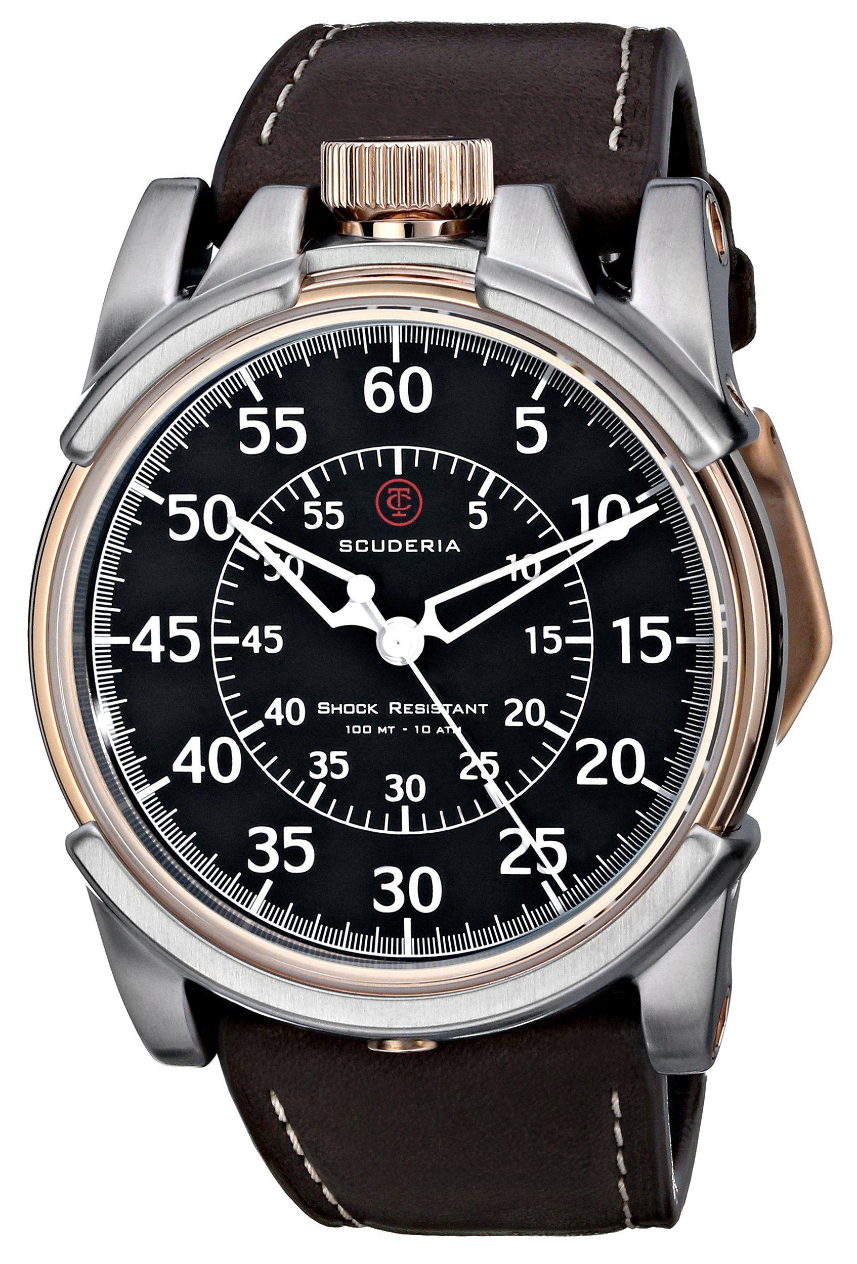 Ct Scuderia Men S Cs10209 Analog Display Swiss Quartz Brown Watch