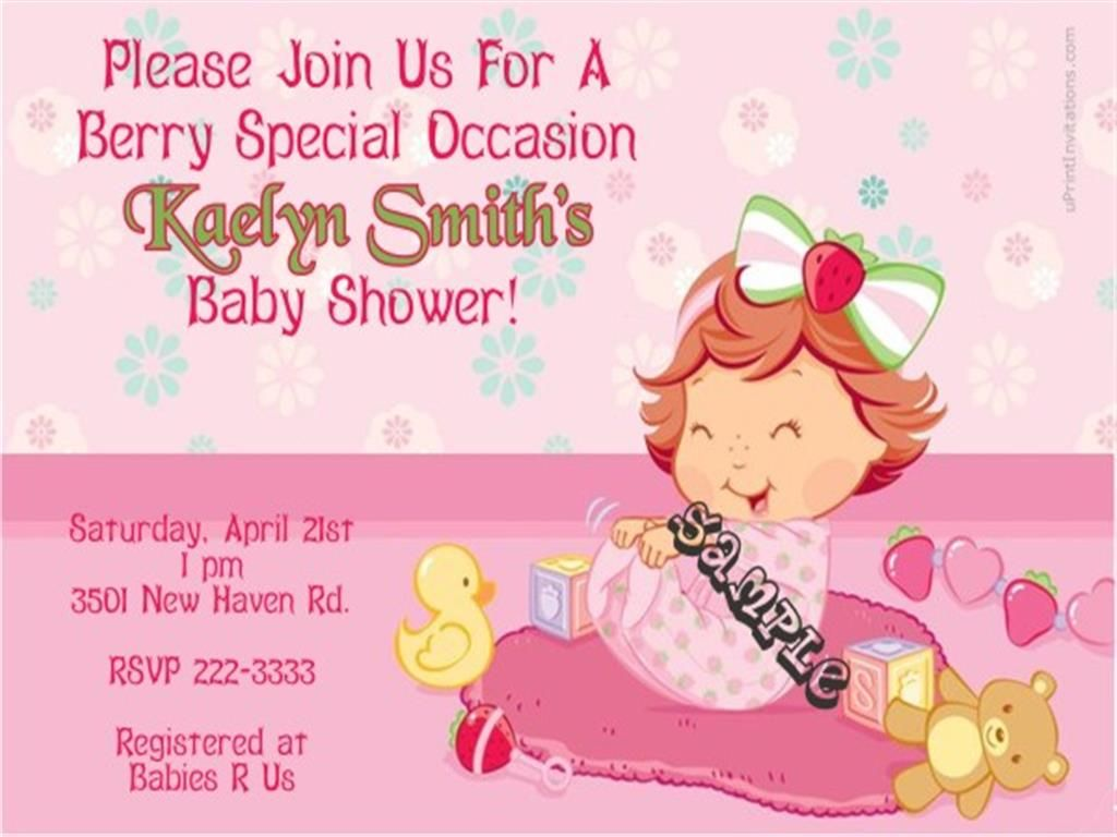 baby shower invitations for a girl
