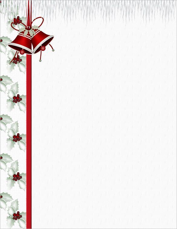 christmas letterhead samples