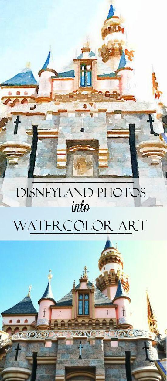 Turn Your Disney Photos Into Watercolor Art Watercolor Art
