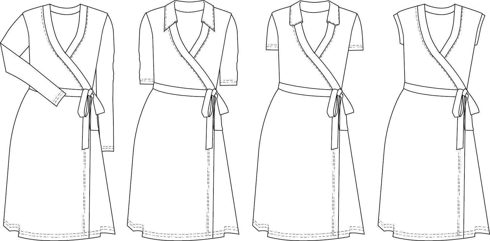 Diana Wrap Dress Sewing pattern | Winter Sewing and Knitting 2017 ...