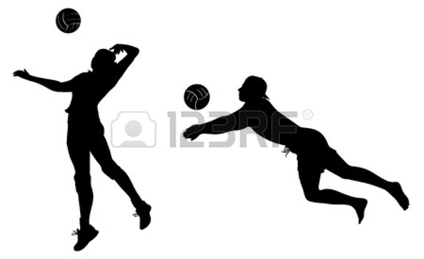 Spike Ball Clipart Clipart Kid Clip Art Silhouette Art Volleyball Players