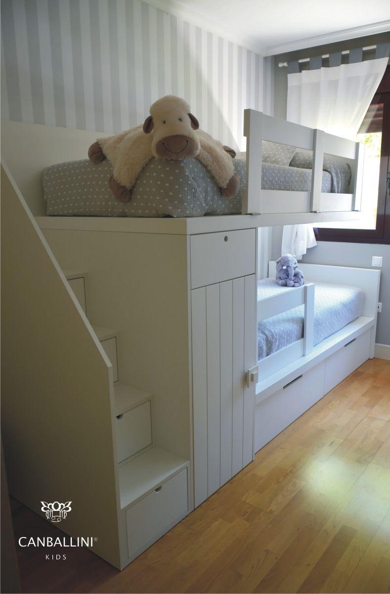literas con dos y tres camas literas con escalones literas con armarios literas para nias y nios - Literas Para Tres