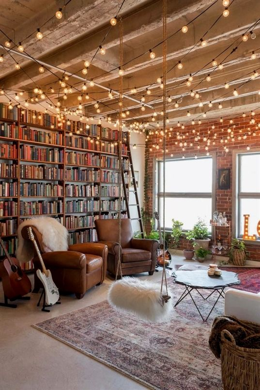 This Book Filled Loft Designed By Interior Design Company Oh Beauty Offers Just 900 Square