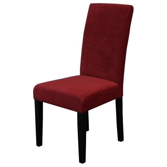 Aprilia Upholstered Dining Chairs Set Of 2 Dark Red Modern