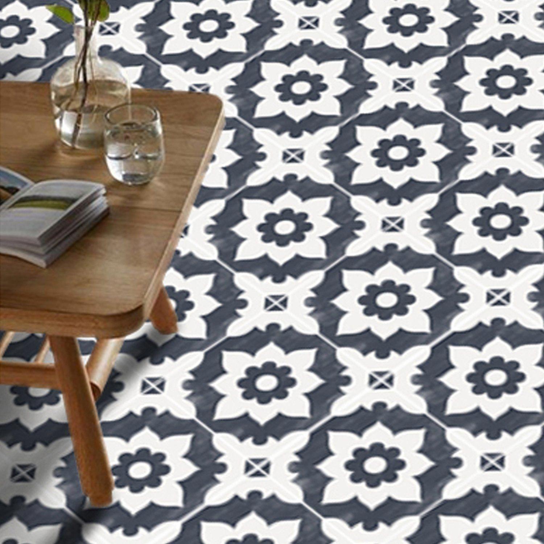 Purple Colour Kitchen Design In 2020 Floor Stickers Vinyl Tile Flooring
