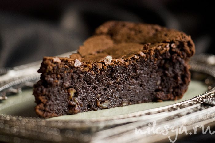 Truffle chocolate cake with chestnuts