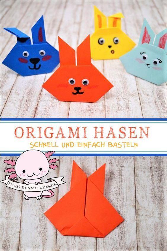 origami für anfänger leichte osterhasen falten für