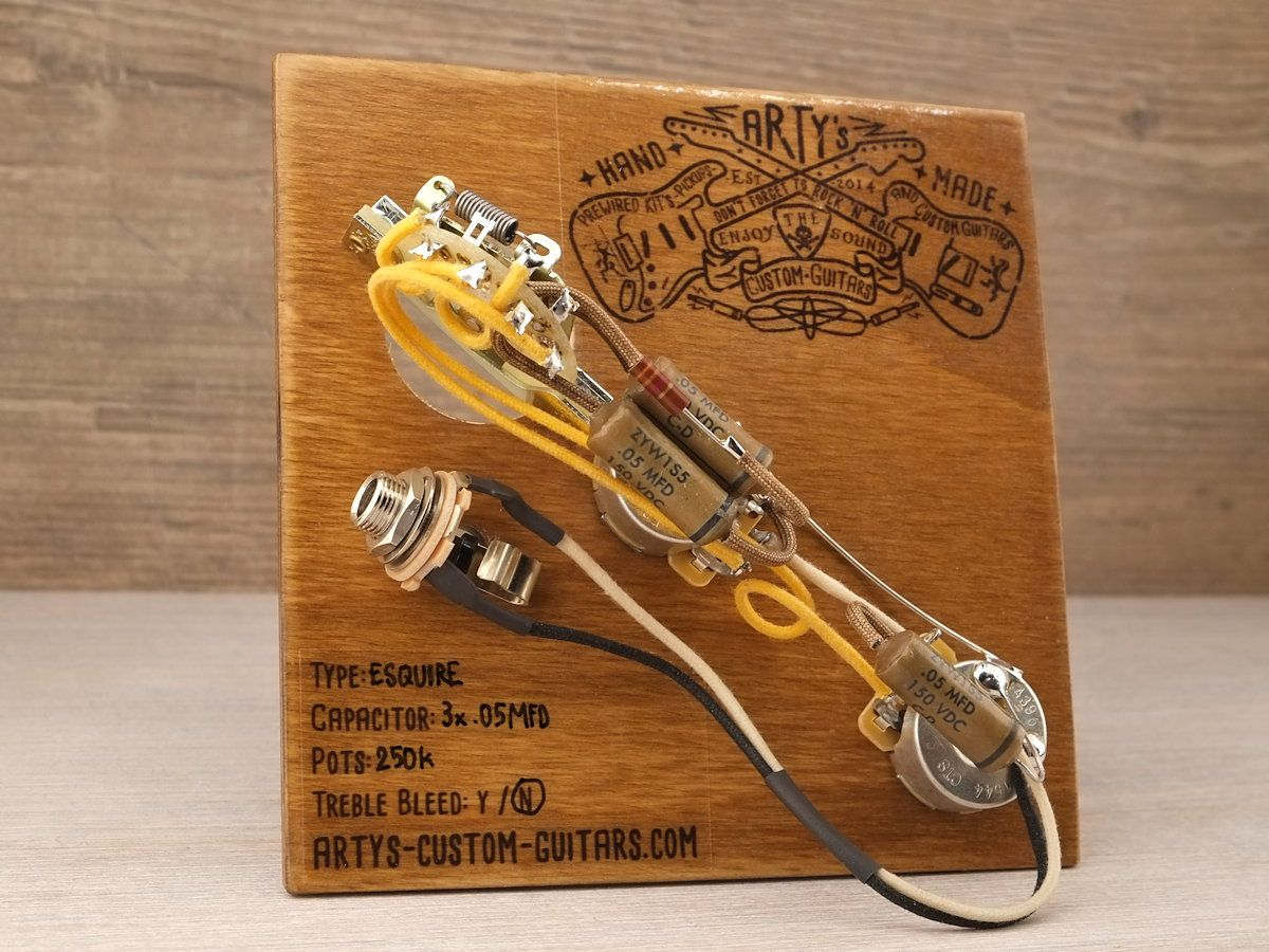 medium resolution of arty s custom guitars esquire 1950 vintage pre wired prewired kit wiring assembly harness arty tele
