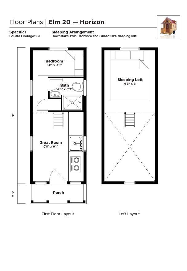 Tumbleweed Tiny House Floor Plans: Tiny House Floor Plans - Trailers