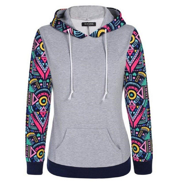 Meaneor Womens Long Sleeve Casual Zip-Up Hoodie Jacket Lightweight Sweatshirt