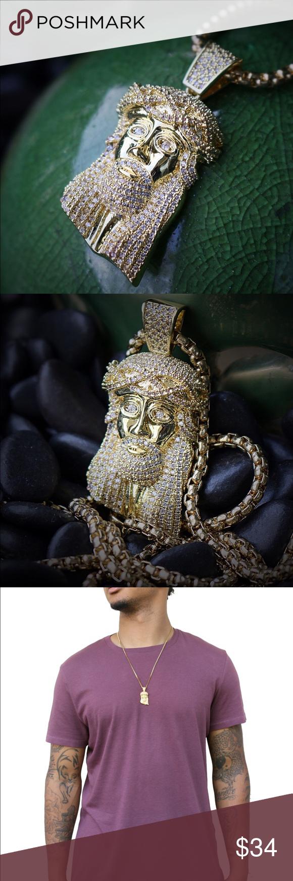 14k gold plated mini jesus piece necklace 14k gold plated mini jesus 14k gold plated mini jesus piece necklace 14k gold plated mini jesus piece with 26 inch aloadofball Choice Image