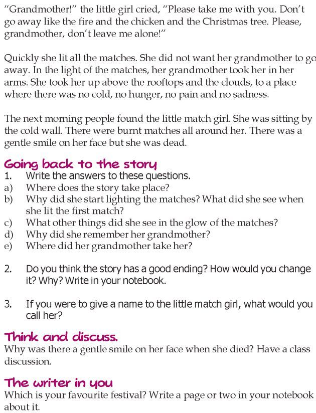 Grade 5 Reading Lesson 24 Short Stories The Little Match Girl 2