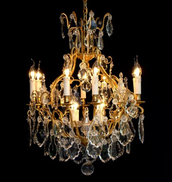 French Crystal Chandelier with 12 Light