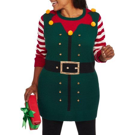 a2752c1ca64 Holiday Time Women s Plus Christmas Tunic Sweater