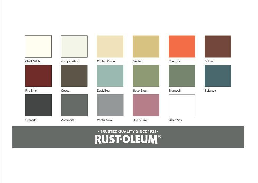 Image Result For Rust Oleum Chalk Paint Colours Chart