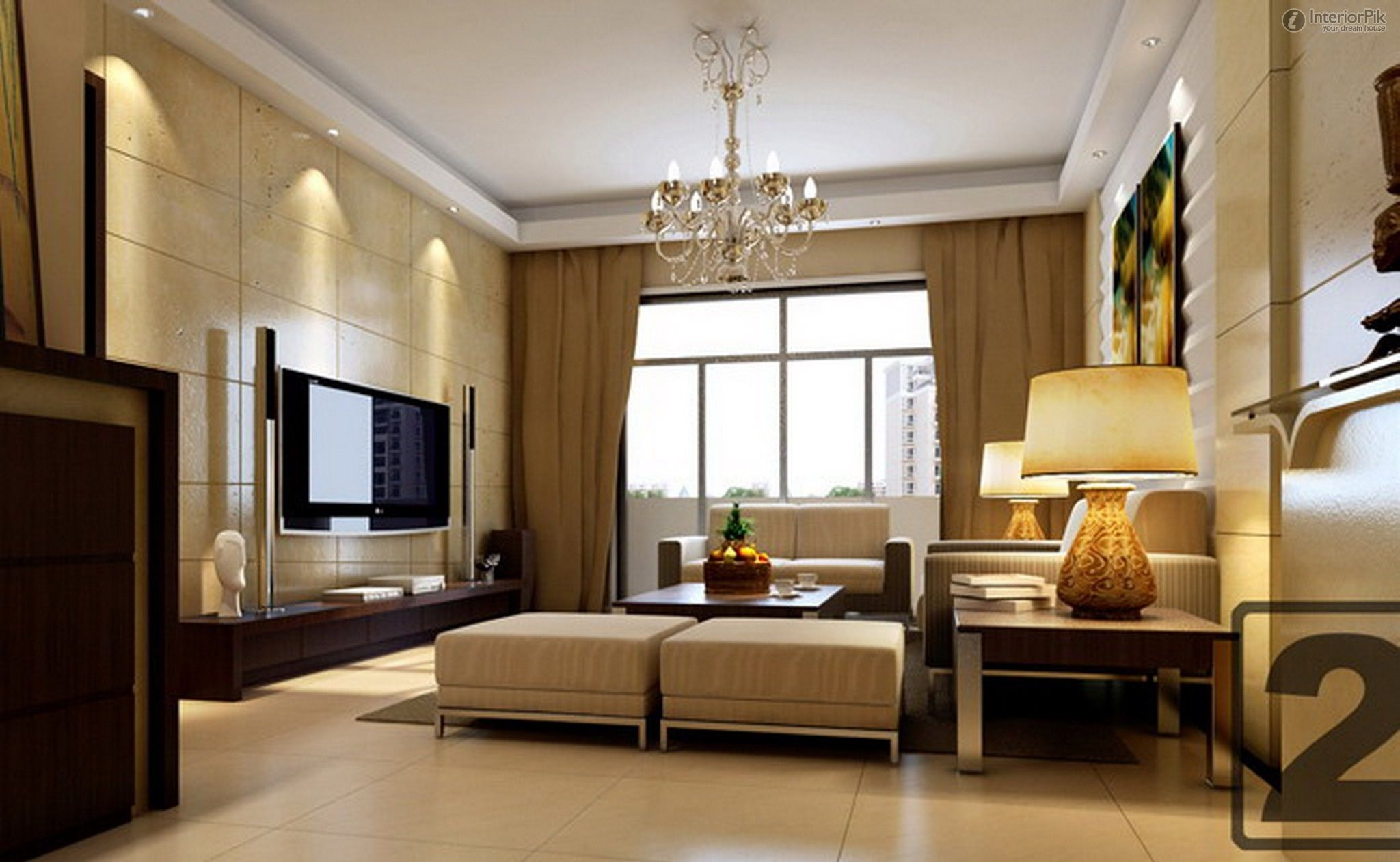 Modern living room background - Room