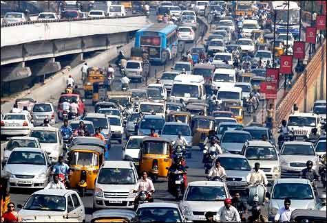 Street traffic Andhra Pradesh