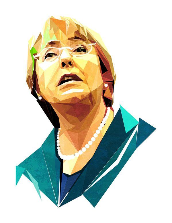 Resultado de imagen para Caricaturas de la Bachelet