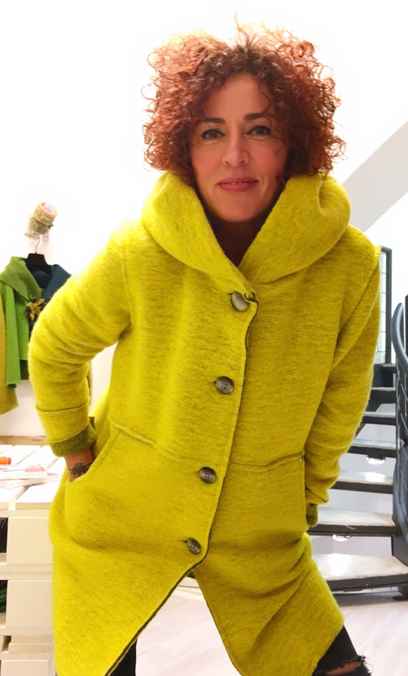 Cappotto in lana cotta by Sara Rabà | Fashion, Outfits, Style