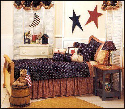 Ordinaire Decorating Theme Bedrooms   Maries Manor: Primitive Americana Decorating  Style   Folk Art   Heartland Decor   Colonial U0026 Country Style Decorating  Americana ...