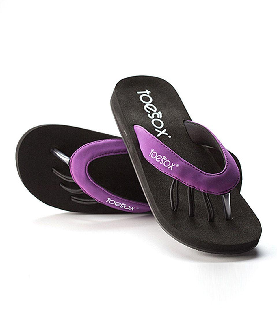 b0a7c7b6c60 ToeSox Purple Yogini Sandal by ToeSox  zulily  zulilyfinds   14.99 ...