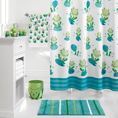 Cute Kids Frog Bathroom Sets Collections Design With Bathtub Curtains Part 29
