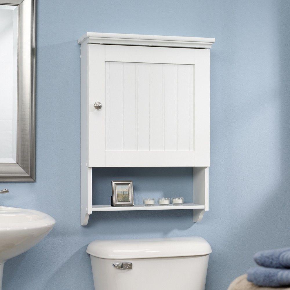 Decorative Wall Shelf White Sauder Bathroom Wall Cabinets Wall Shelf Decor Bathroom Furniture