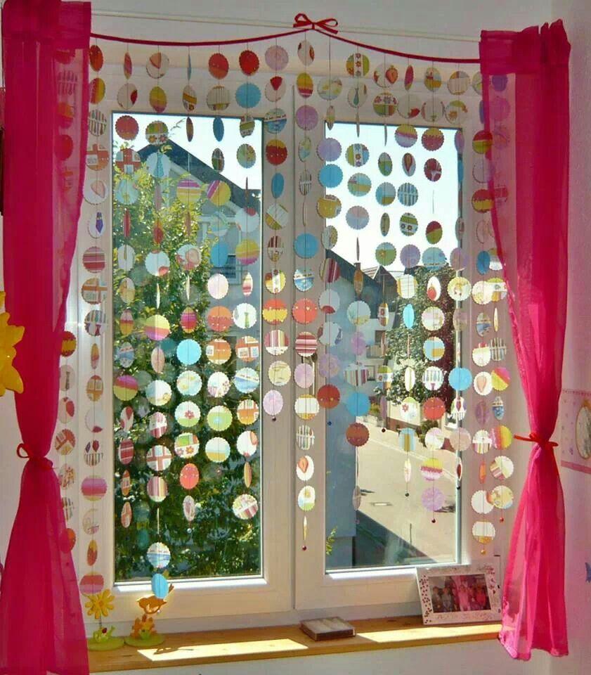 Vorhang aus transparentpapier ideen pinterest for Fensterbilder kinderzimmer