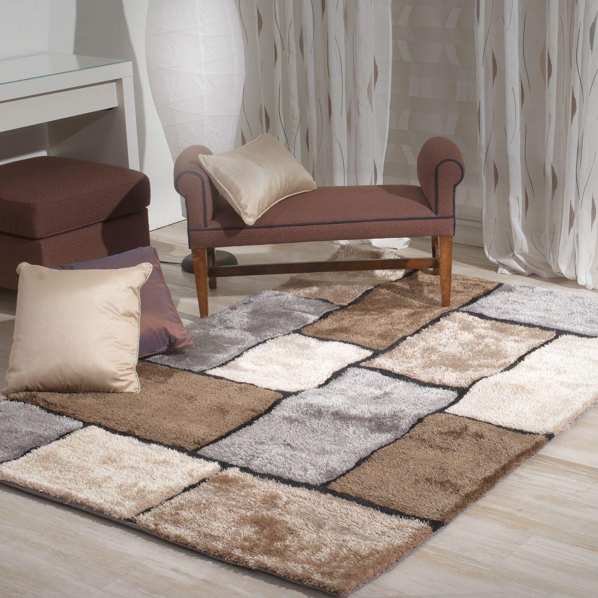alfombra a cuadros yuki wwwsancarloses - Alfombras Salon