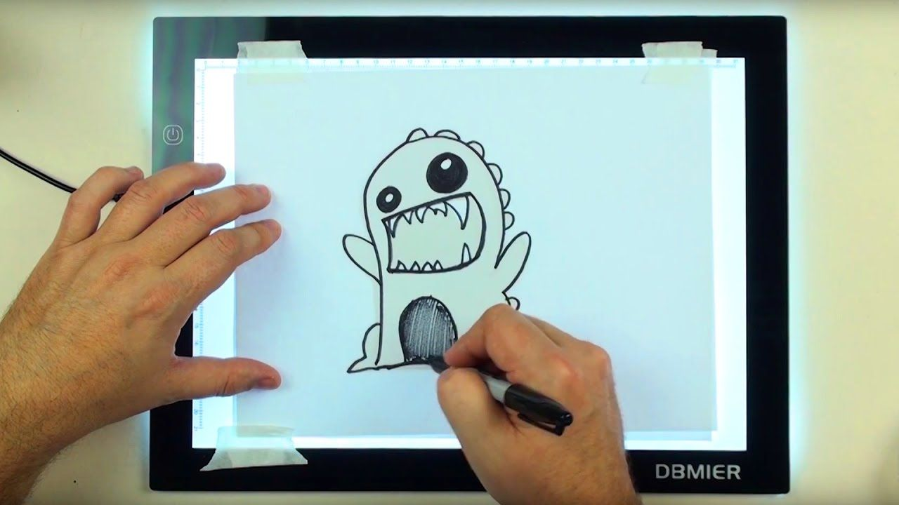 Dbmeir LED Lightbox A4S (USB Powered) Unboxing - How to Draw a Cute Mons