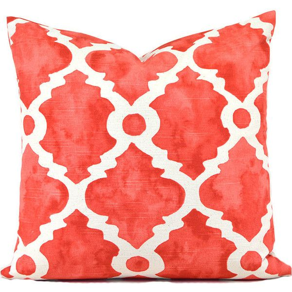 Pillow Covers Any Size Decorative Salmon Pillow Cover Coral Pillow... ($15) ❤ liked on Polyvore featuring home, home decor, throw pillows, decorative pillows, home & living, home décor, light pink, coral home accessories, coral throw pillows and light pink throw pillows