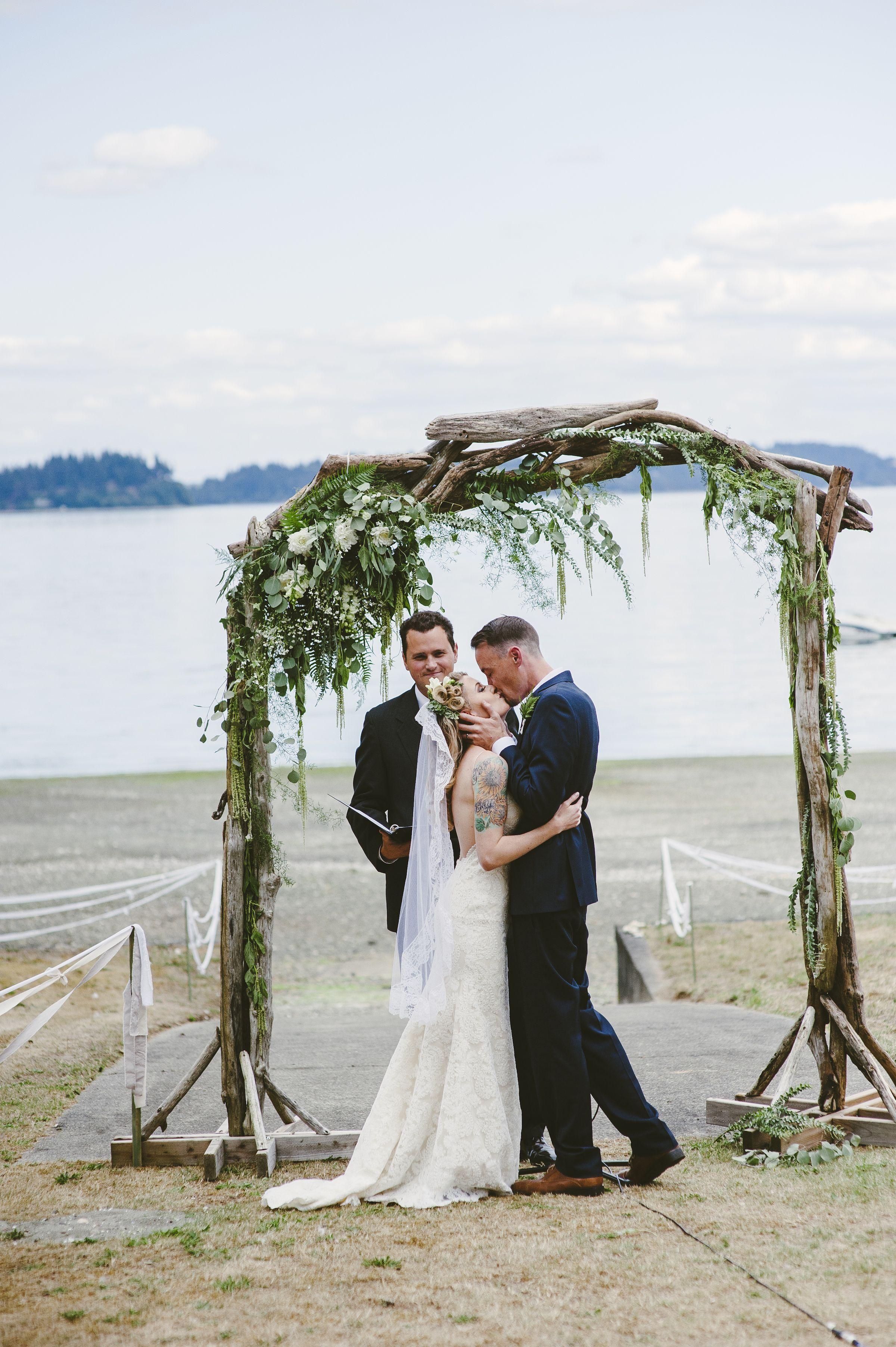 Pacific Northwest Woodsy Beach Wedding