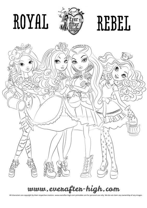 Ever After High Girls Coloring Page Imprimir Desenhos Para