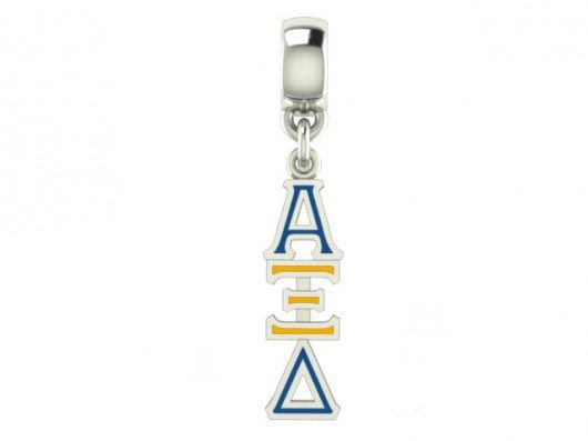 Sorority Color Filled Stainless Lavaliere