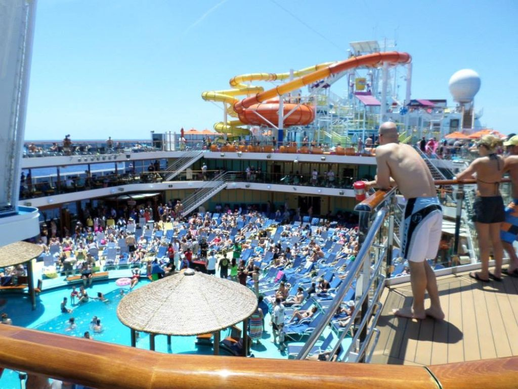 view from top deck carnival breeze cruise pinterest carnival view from top deck