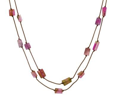 Margaret Solow   Long Watermelon Tourmaline Necklace in Necklaces Beads at TWISTonline