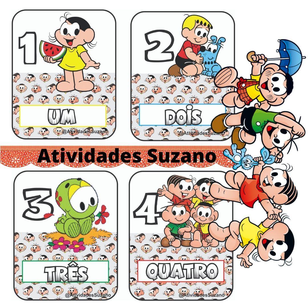 Cards De Numeros Turma Da Monica Com Cartas De Zero Ate O Numero
