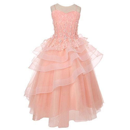 Blush colored dresses for girls