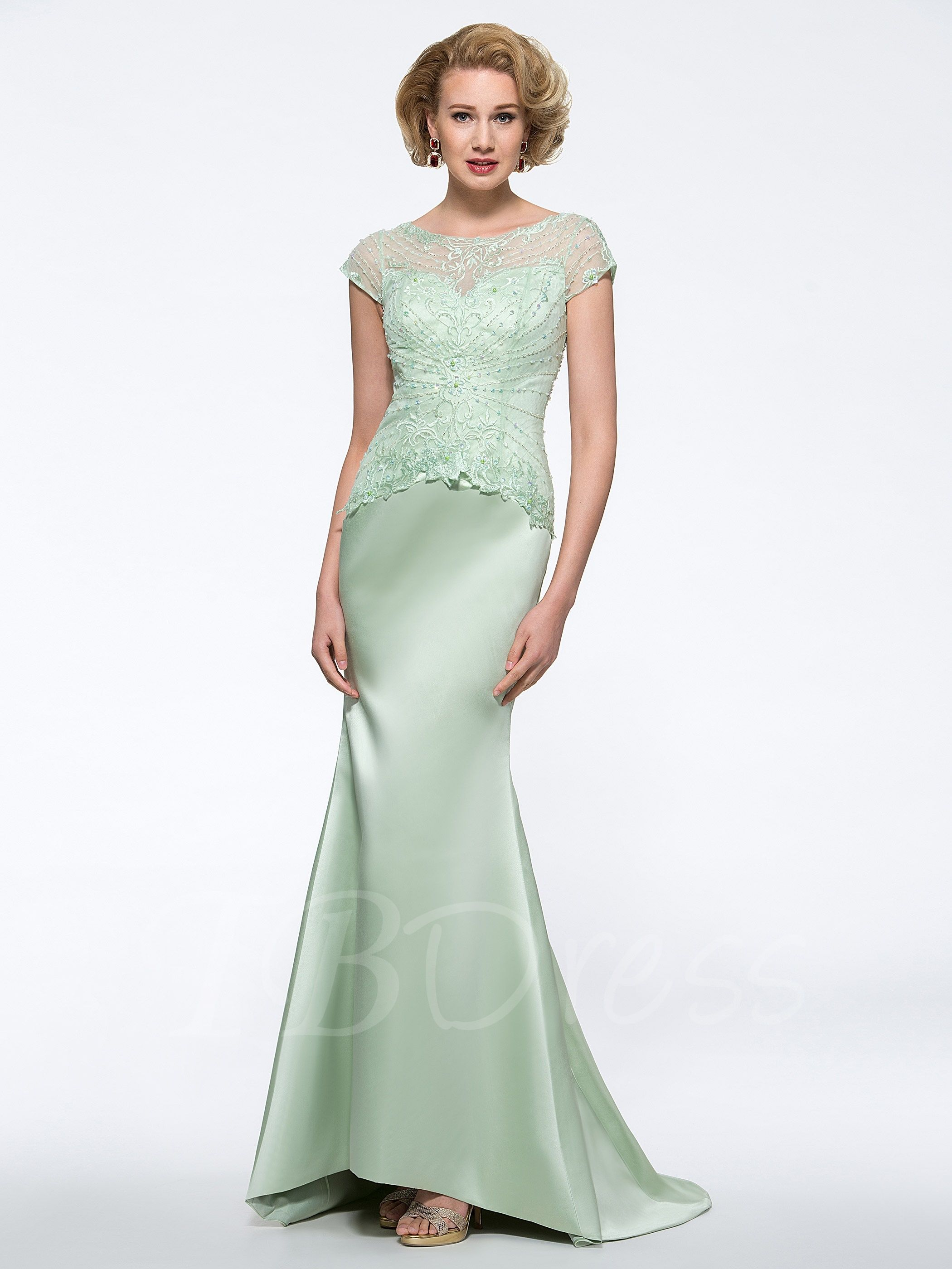 Beaded lace mermaid mother of the groom dress mother of