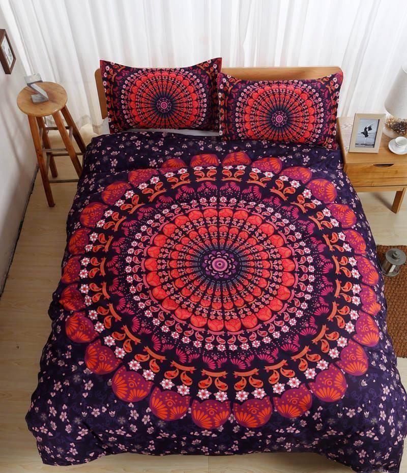 Indian Mandala Bedding Set Duvet Cover Set Comforter Covers California King Size In 2021 Bedding Sets Mandala Bedding Bed Duvet Covers