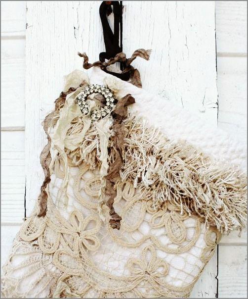 Heirloom Vintage Christmas Stocking
