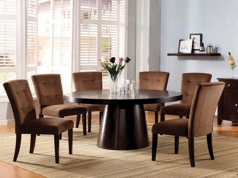 round dining room table with built in lazy susan | round table ...