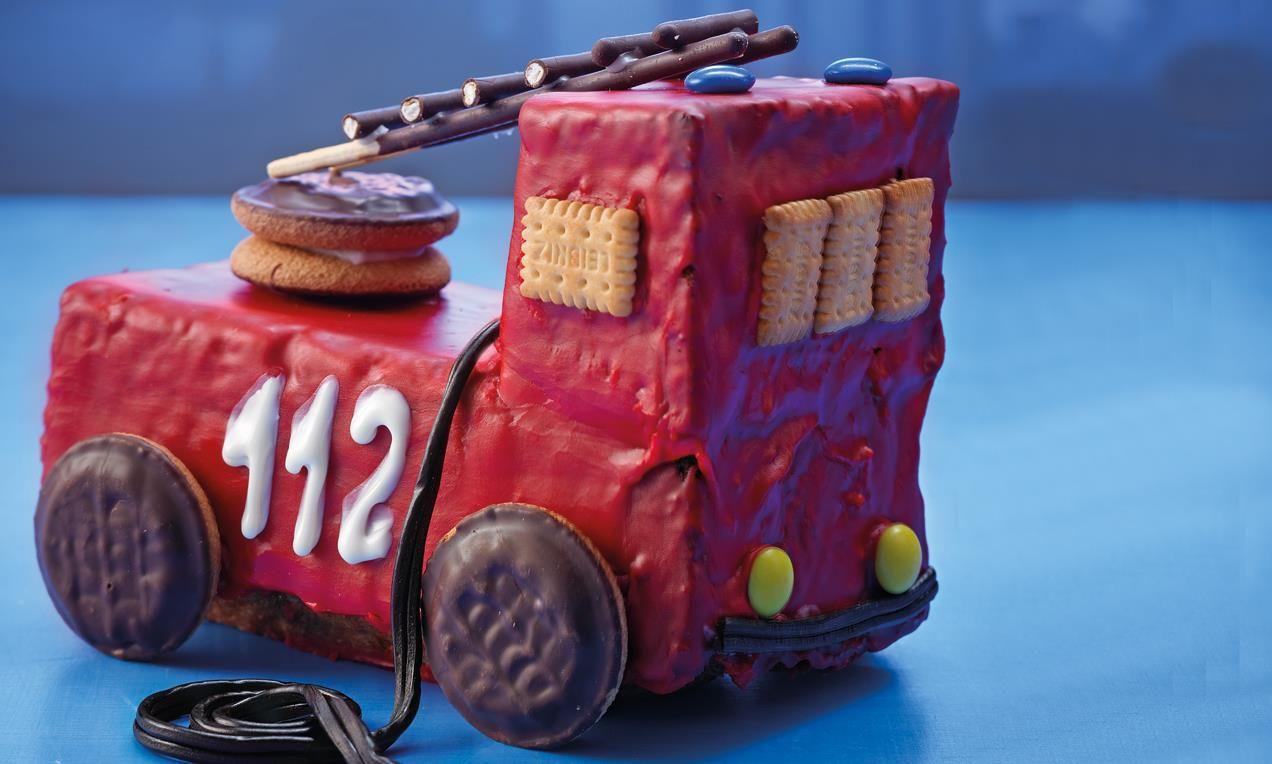 Feuerwehrauto Rezept Feuerwehr Kuchen Kinder Kuchen Und Partyessen Kinder