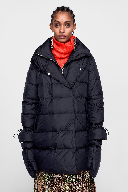 reputable site e18d4 a15b8 Lungo Avvolgente Di Zara 5 Fashion Immagine Piumino Con ...