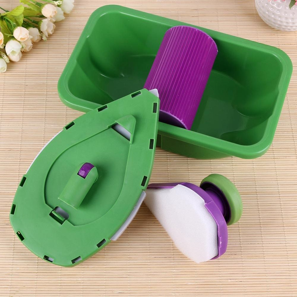 9pcs Set Paint Roller Tray Sponge Pads Kits Household Painting Brush W Rosamiss In 2020 Diy Wall Painting Diy Wall Paint Pads
