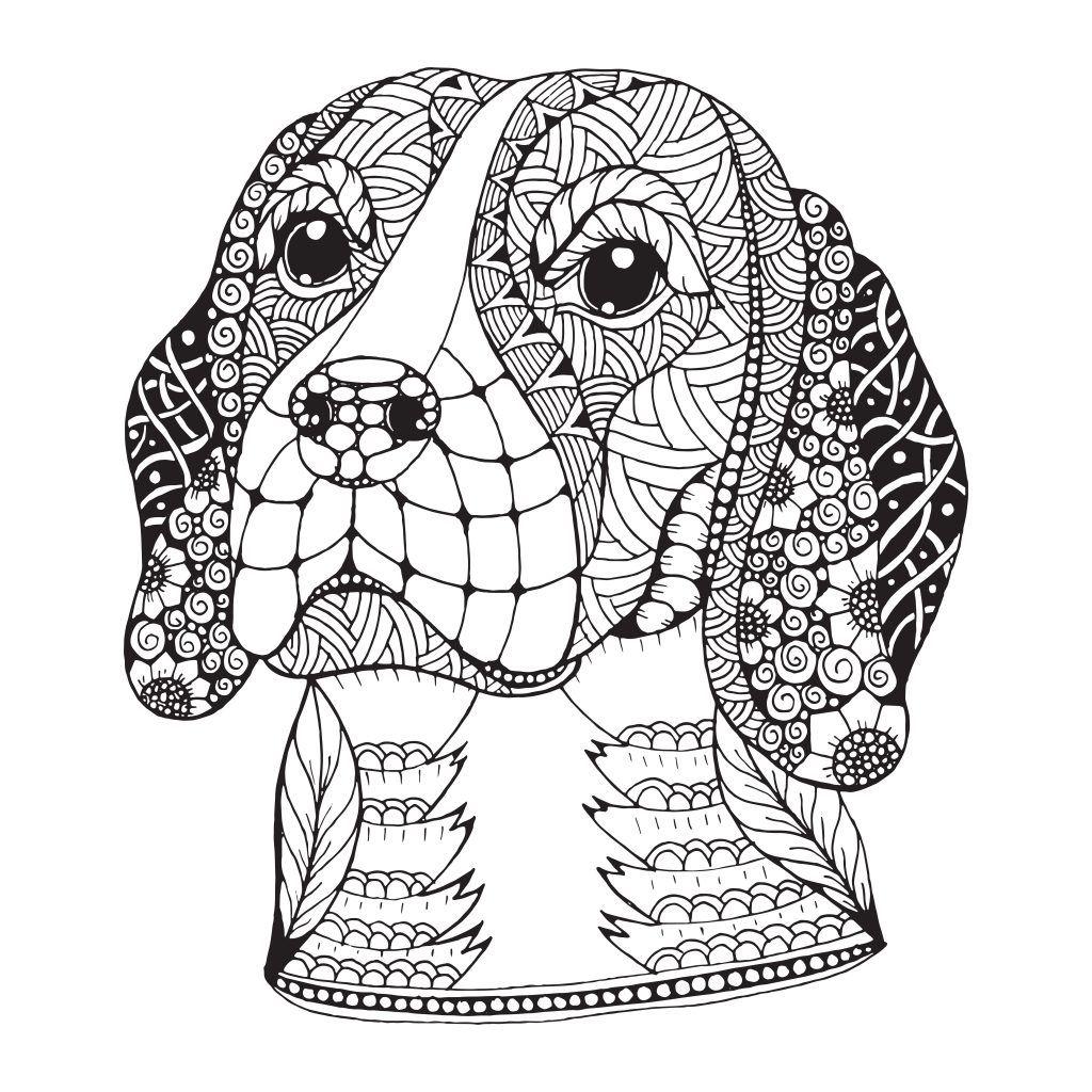 colorear Mandalas de perros | animalons | Pinterest | Colorear ...